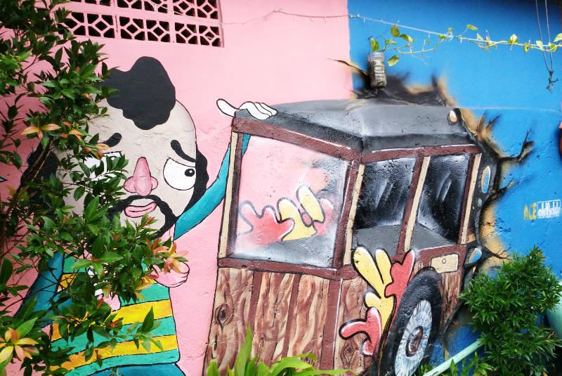 perpaduan warna cat rumah untuk pembuatan mural