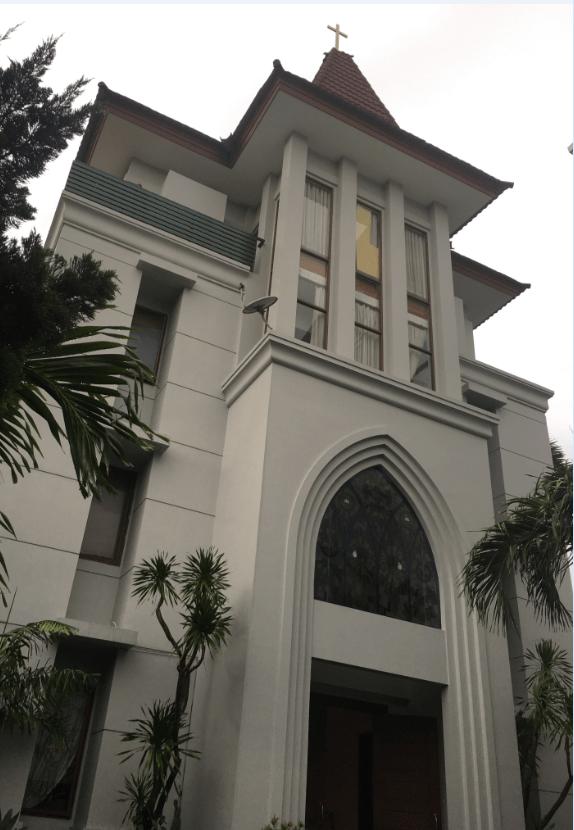 Gedung Pastoran Gereja FX Kuta Bali–Repainting
