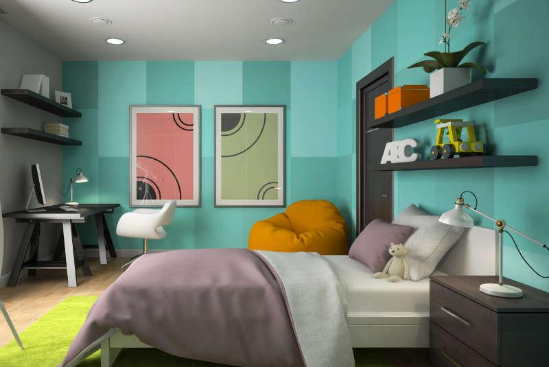 warna cat tembok kamar hijau