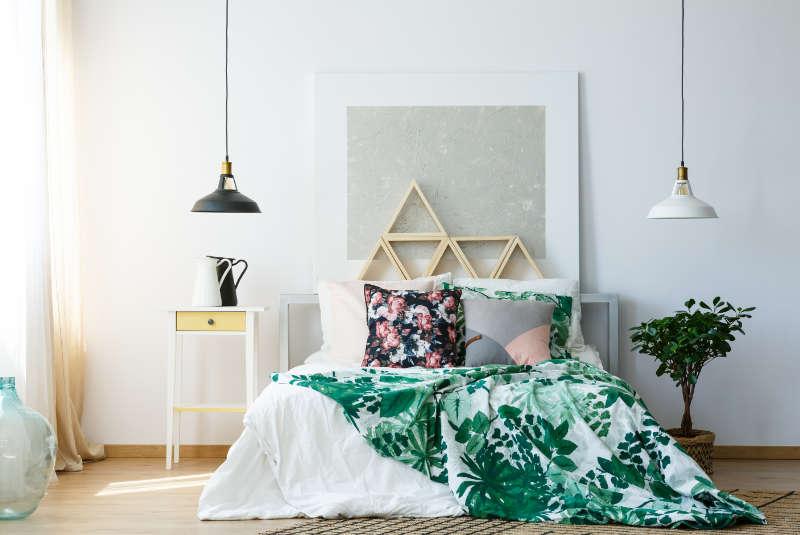 warna cat tembok kamar tidur grey