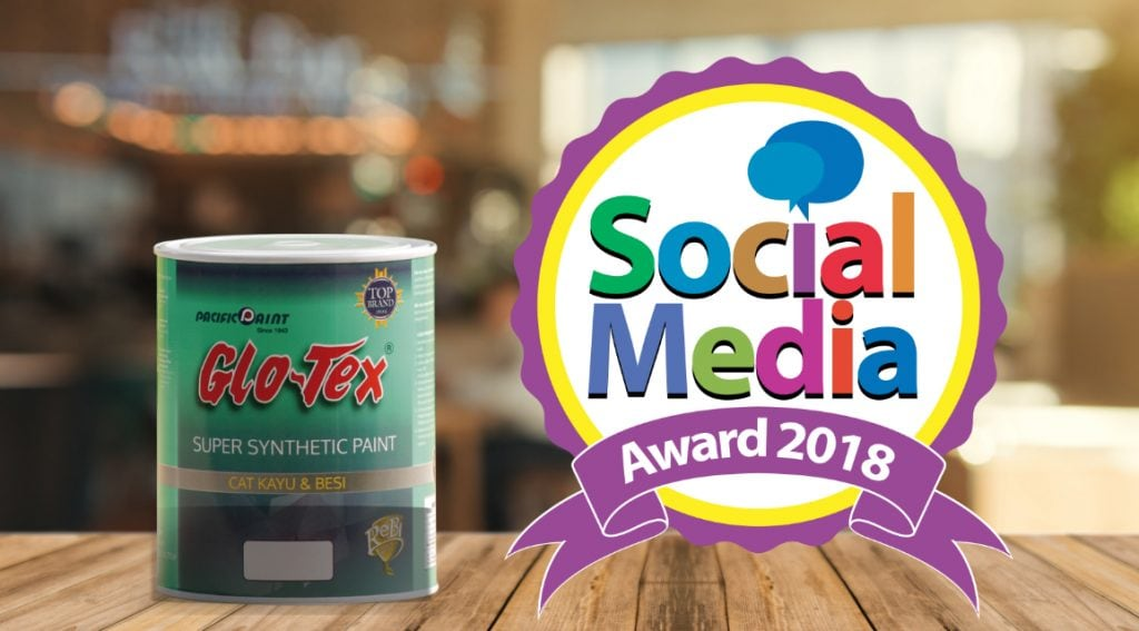glotex cat kayu besi social media award