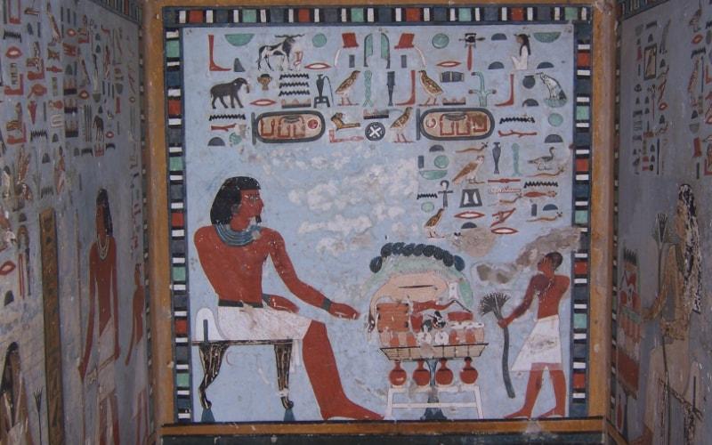 lukisan cat dinding mesir kuno