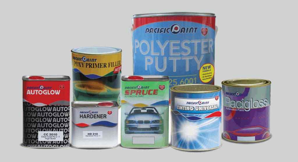 rangkaian produk auto pacific paint