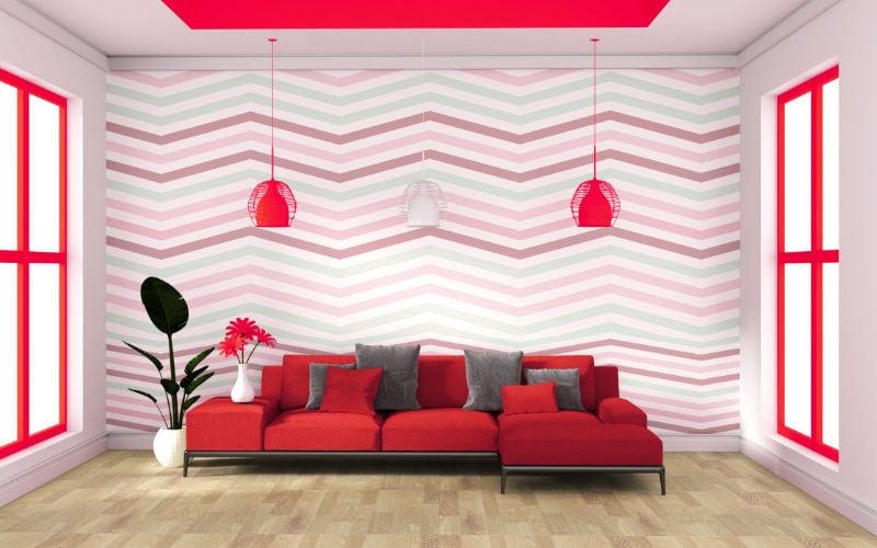 warna interior dengan wallpaper