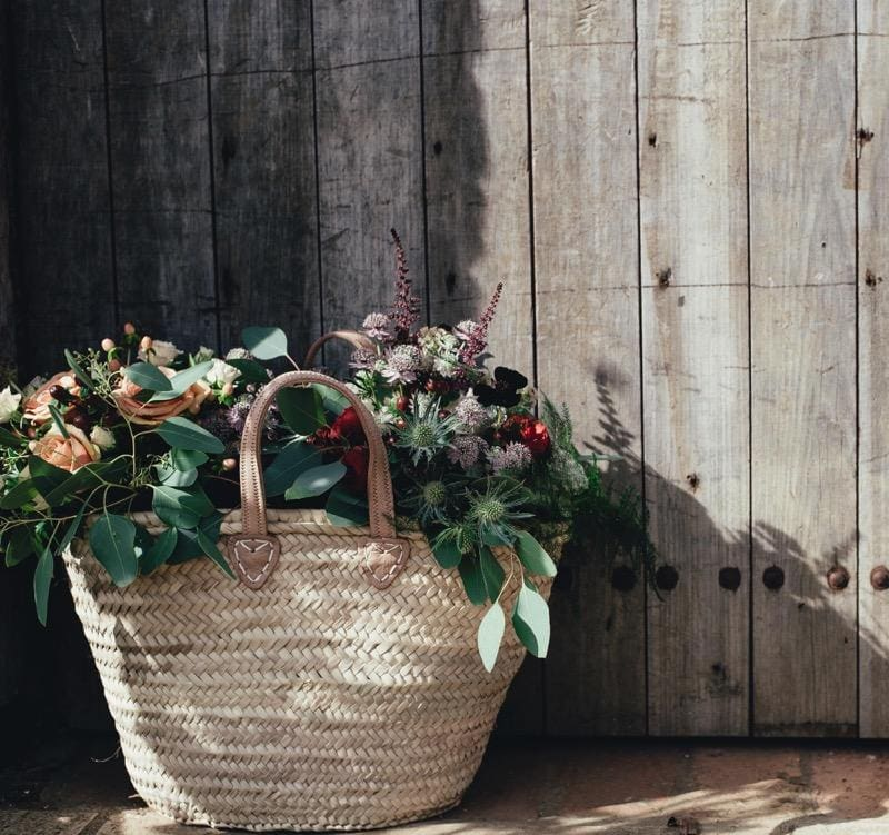 Pot tanaman hias keranjang anyaman