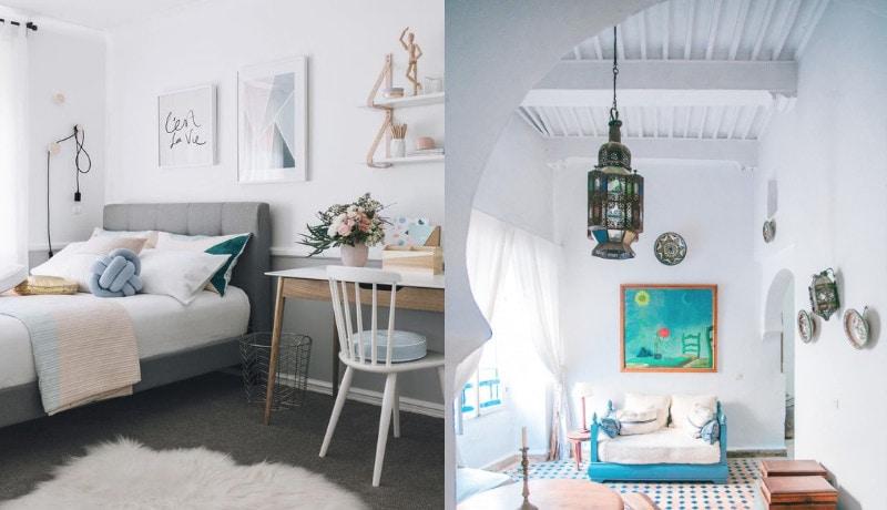 warna putih kamar tidur kecil