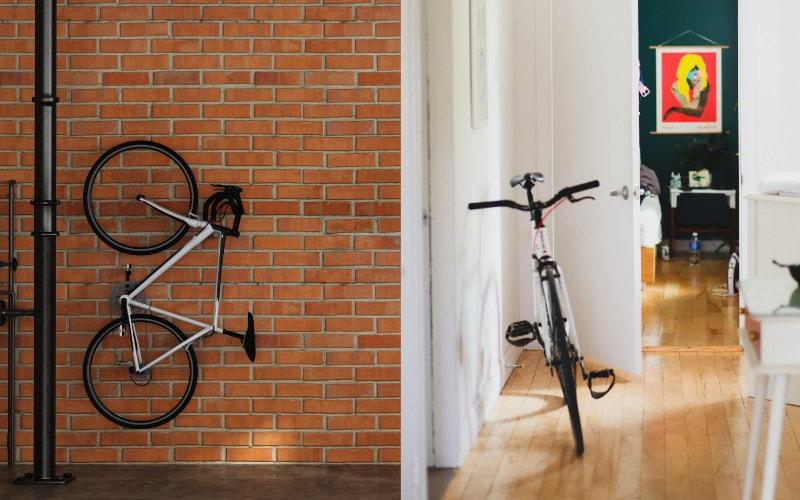 menyimpan sepeda