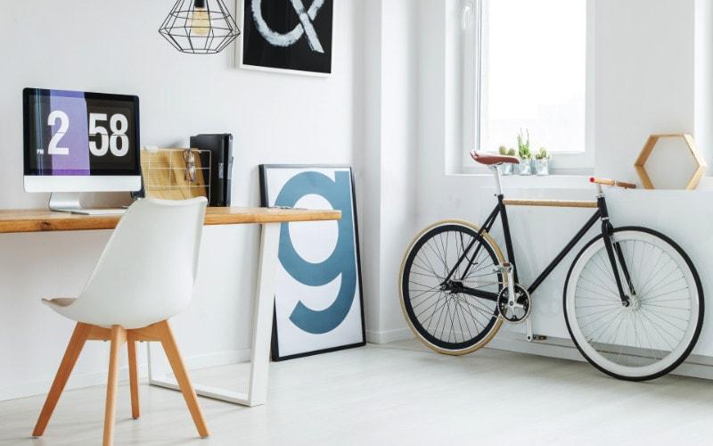 sepeda dekorasi ruang kerja