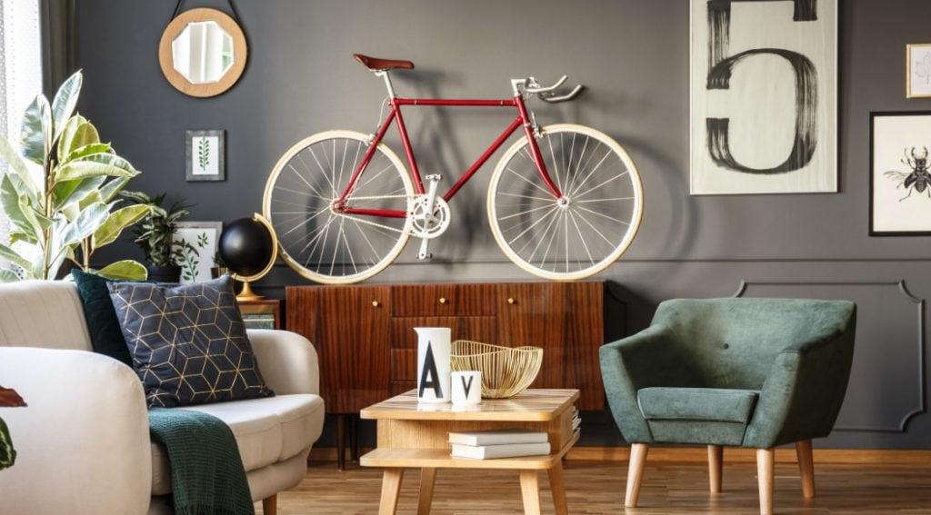 sepeda untuk dekorasi rumah