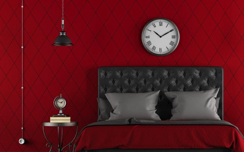 warna merah kamar tidur