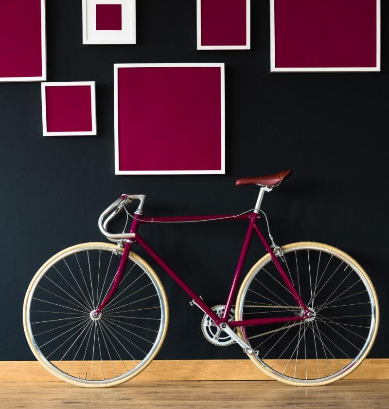 warna sepeda dekorasi dinding