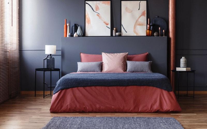 cat kamar tidur yang hangat