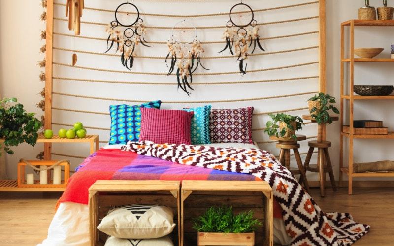 dekorasi warna warni kamar tidur