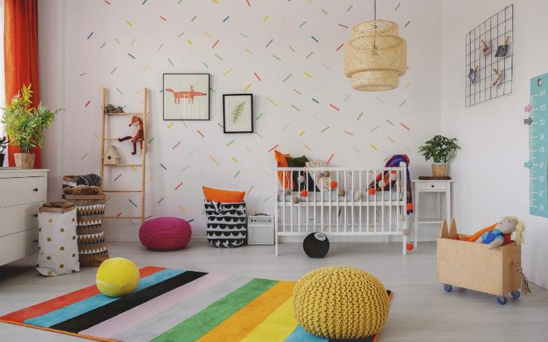 ruang bermain anak warna warni