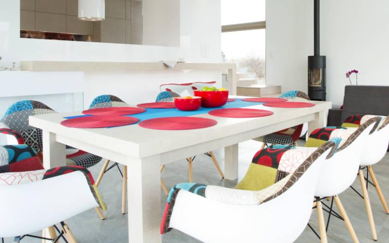 dekorasi warna ruang makan