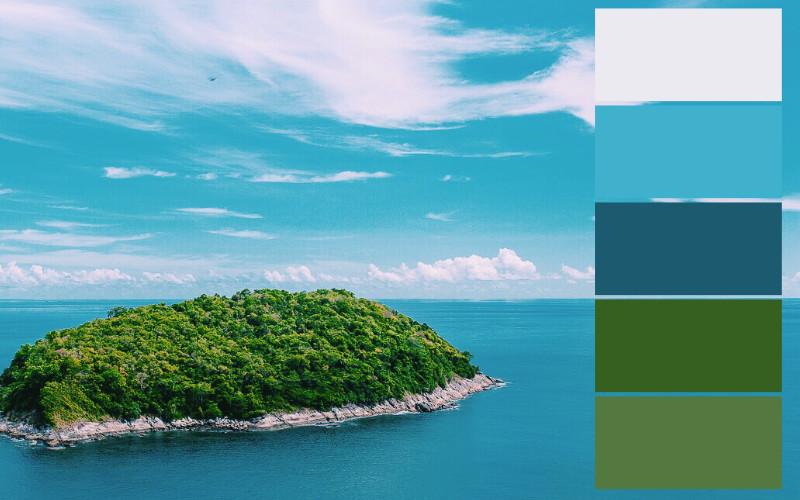Skema warna alam laut lepas