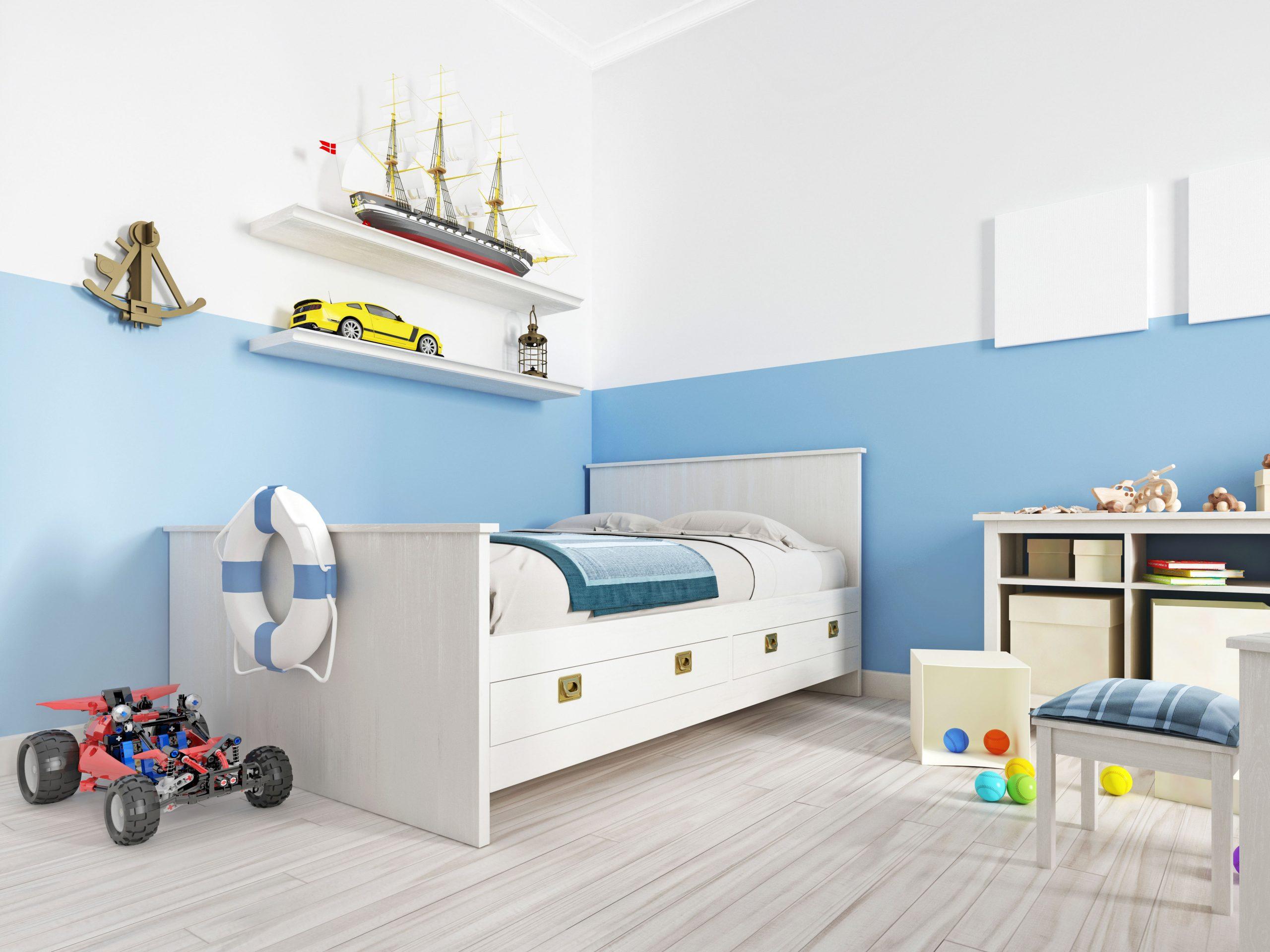Kamar Tidur Anak Biru