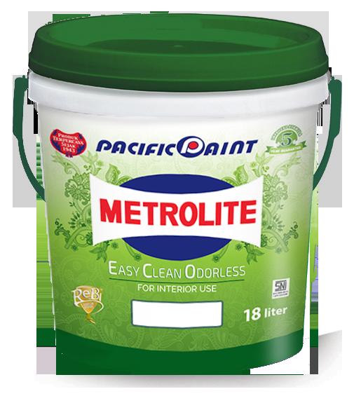 Cat dinding Interior Metrolite Easy Clean Odorless (ECO)