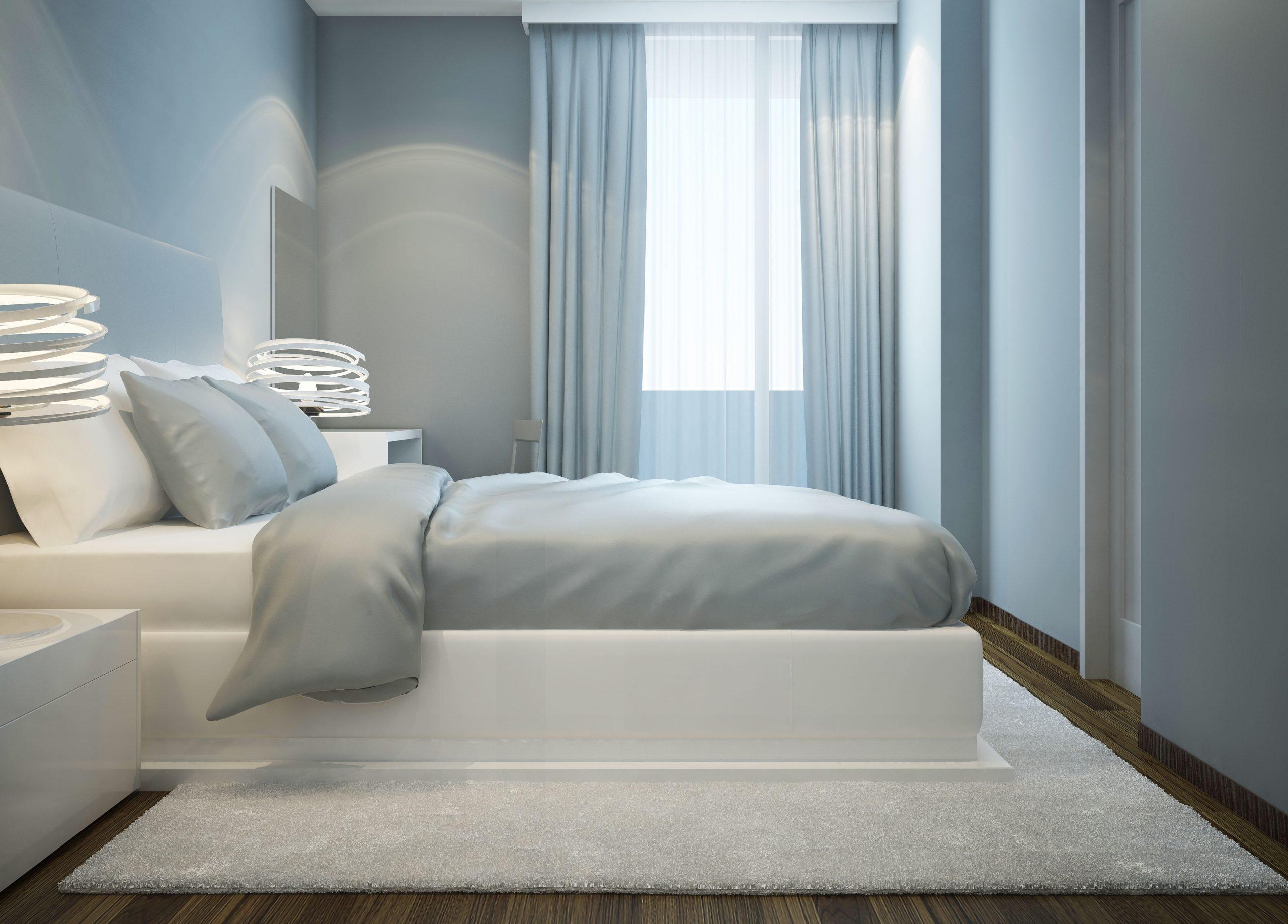 Kamar Tidur Estetik biru